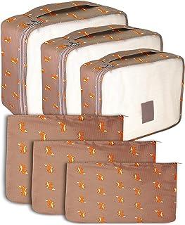 مكعبات التعبئة 6 قطع منظم حقيبة الظهر لحمل حقيبة السفر مكعب الأمتعة (فوكس 6)