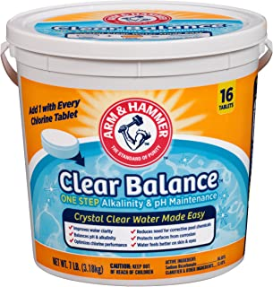 Arm & Hammer Clear Balance Pool Maintenance Tablets, 16 Count, Net Wt. 7LB (3.1kg)