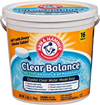 Arm & Hammer Clear Balance Pool Maintenance Tablets, 16 Count, Net Wt. 7LB (3.18kg)