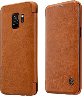 Nillkin Samsung Galaxy S9 Qin Flip Series Leather Case Cover- Brown