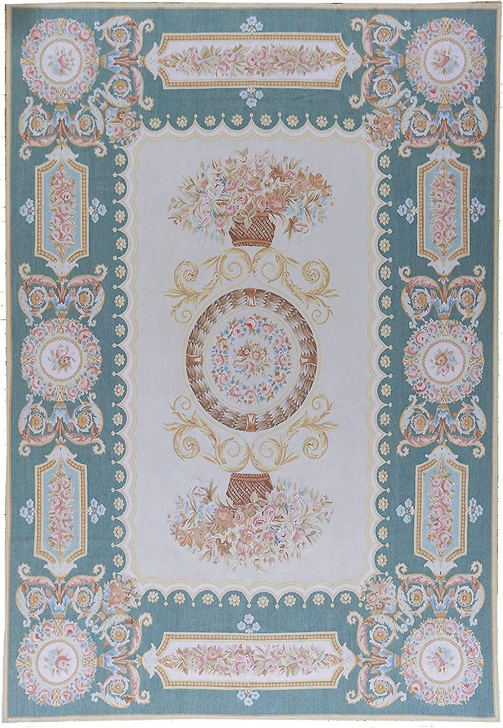 Pasargad Aubusson Hand-Woven New Zealand Rug- Daily bargain sale Area Wool OFFicial store 7'11