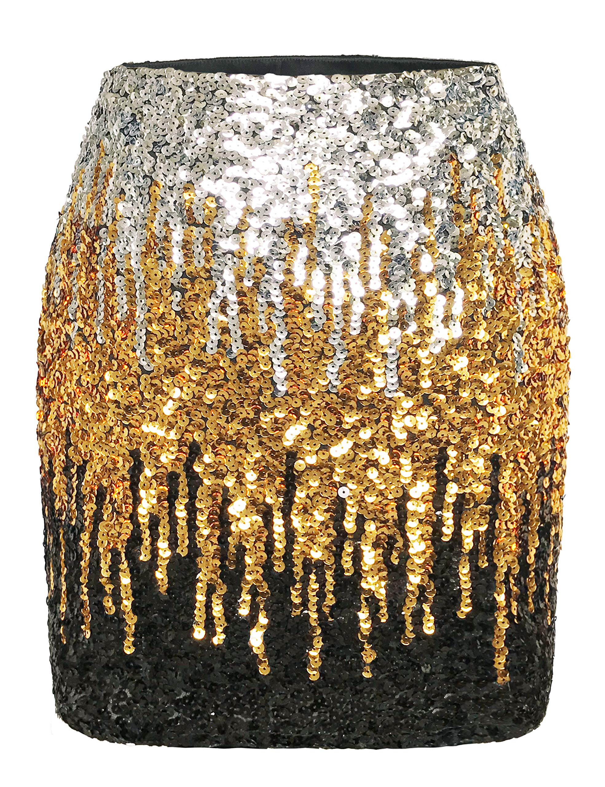 MANER Women's Sequin Skirt Sparkle Stretchy Bodycon Mini Skirts Night Out  Party- Buy Online in Guernsey at guernsey.desertcart.com. ProductId :  165754155.
