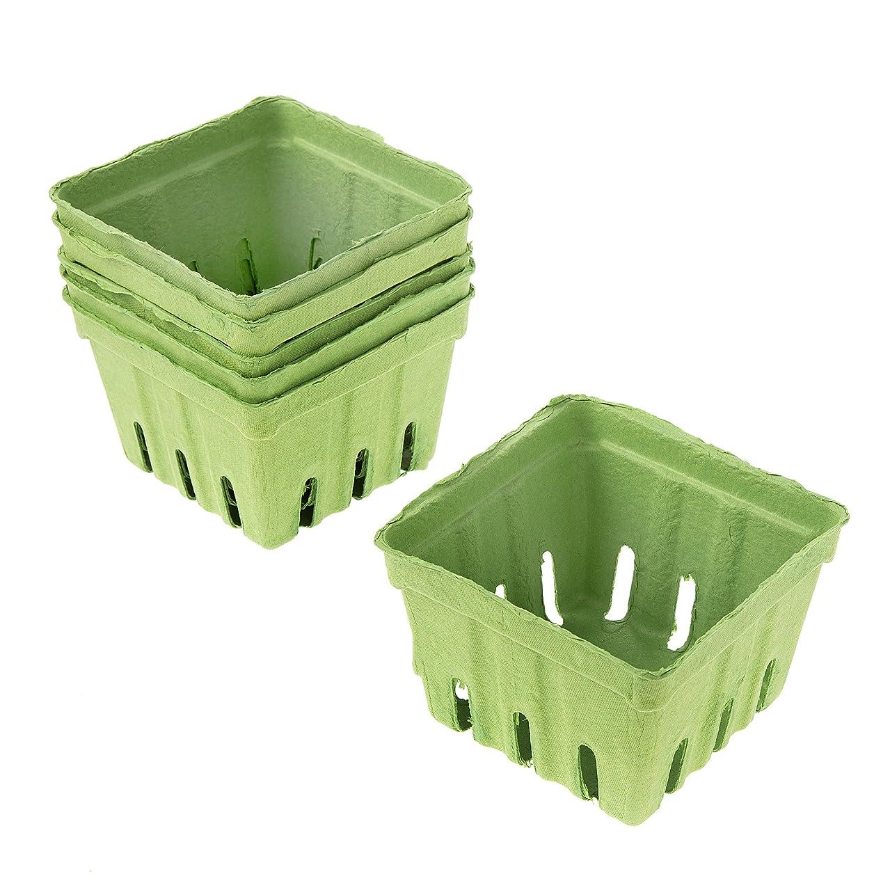Darice Green Paper Berry Basket, 6 Piece