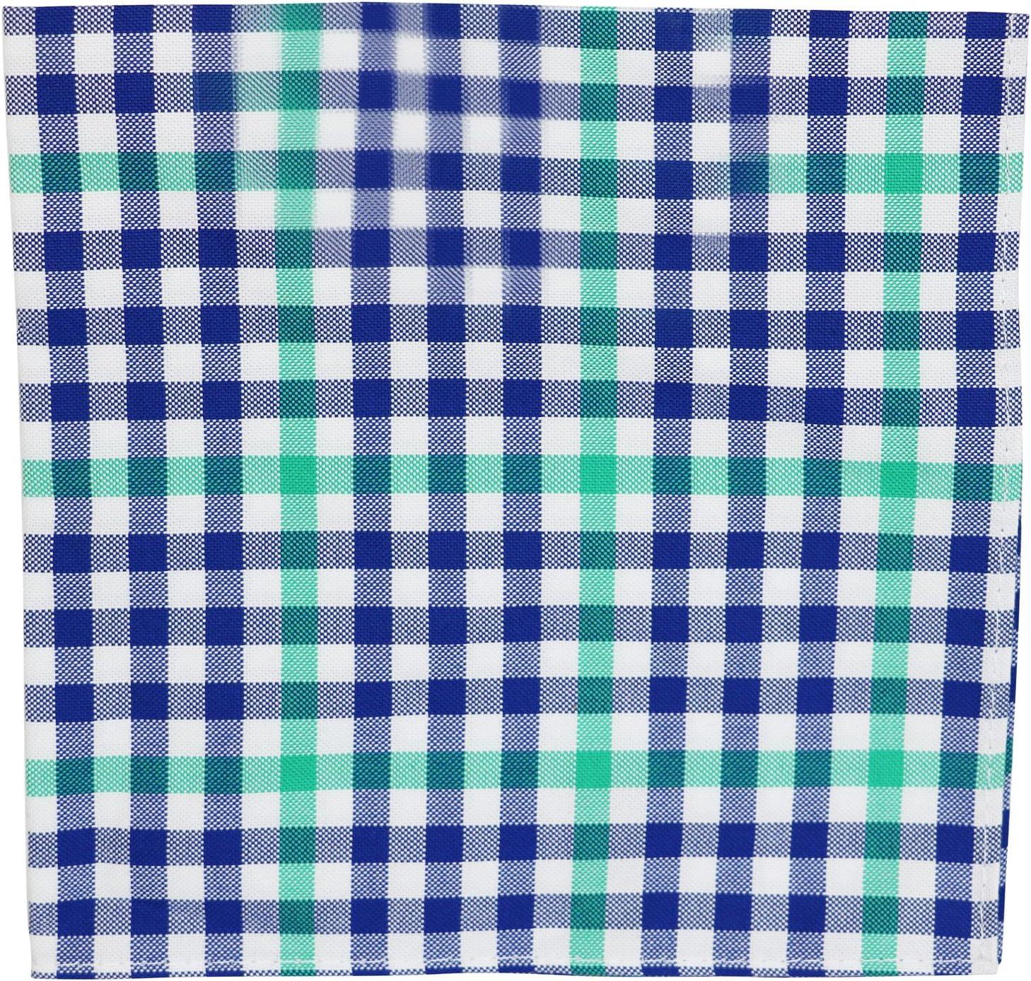 Tommy Hilfiger Mens Gingham Handkerchief Pocket Square Navy O/S