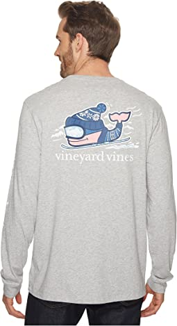 Vineyard Vines - Long Sleeve Downhill Ski Whale Pocket Tee