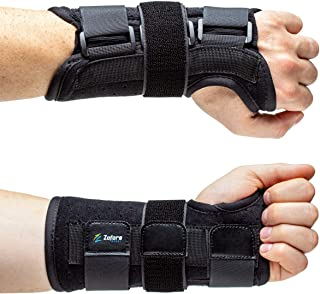 Carpal Tunnel Wrist Brace Support with Metal Splint Stabilizer by Zofore - Helps Relieve Tendinitis Arthritis Carpal Tunnel Pain - Reduces Recovery Time for Men Women - Left (S/M)
