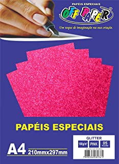Papel A4 Glitter 180G Off Paper, Multicor