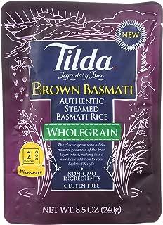 Tilda Legendary Rice Steamed Basmati, Brown, 8.5 Ounce (Pack of 6)
