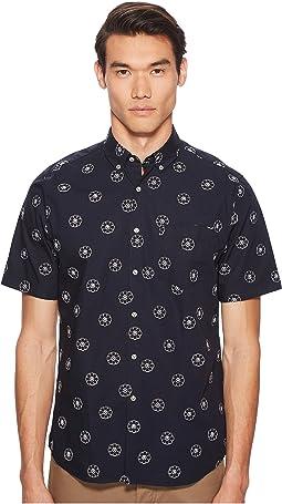 Cash Short Sleeve Embroidered Poplin Shirt