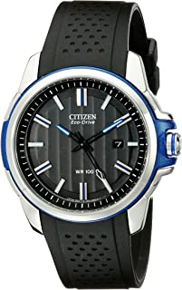 Citizen Men's Drive Eco-Drive Two-Tone Date Strap Watch with Blue Accents