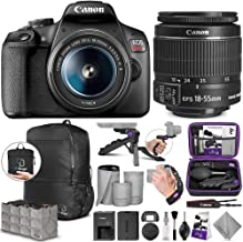 Canon EOS Rebel T7 DSLR Camera with Canon EF-S 18-55mm is II Lens with Altura Photo Essential Accessory and Travel Bundle