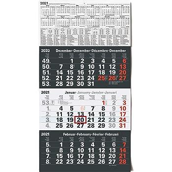 Kalender 3-Monatskalender 4-Monatskalender Wandkalender 2021 Planer Jahresplaner