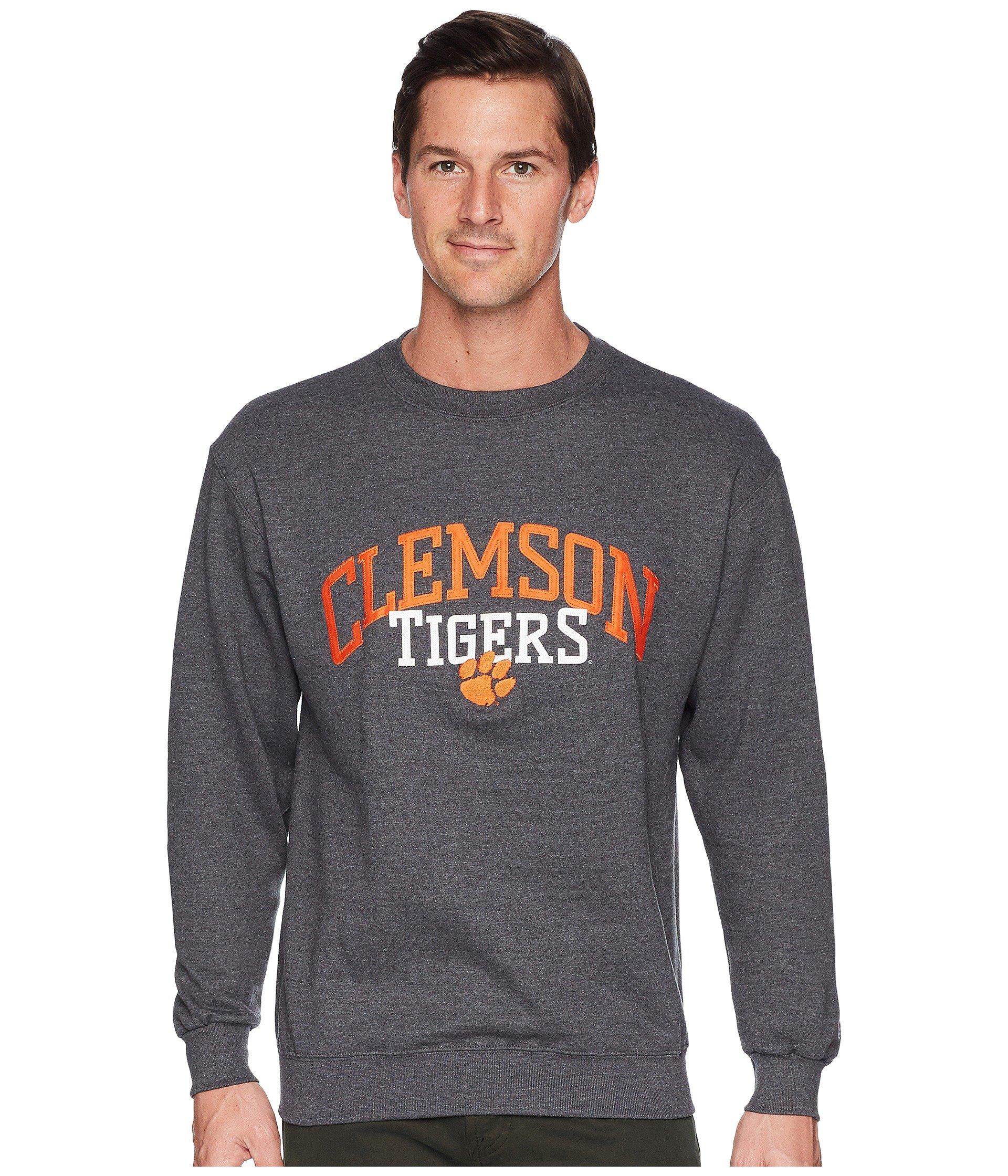 Buzo o Chaqueta Deportiva para Hombre Champion College Clemson Tigers Eco® Powerblend® Crew  + Champion en VeoyCompro.net