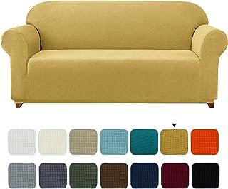 subrtex 1 Pieza Funda Sofa Elasticas Fundas de Sofa Antideslizante Cubierta Forros para Sofas Anti Arañazos Ajustable Protector (2 Plaza, Amarillo)