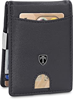 TRAVANDO Slim Wallet with Money Clip SEATTLE RFID Blocking Card Mini Bifold Men