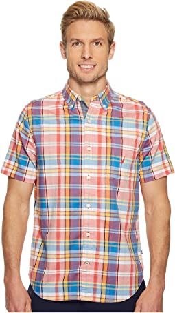 Nautica - Short Sleeve Large Scale Plaid Shirt