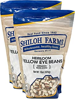 Shiloh Farms - Organic Heirloom Yellow Eye Beans, 2 Packs - 15 Ounce each