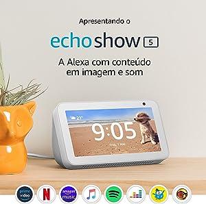 """Echo Show 5 - Smart Speaker com tela de 5,5"""" e Alexa - Cor Branca"""