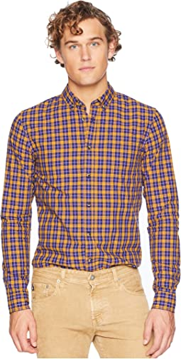Regular Fit Multicolored Checkered Shirt