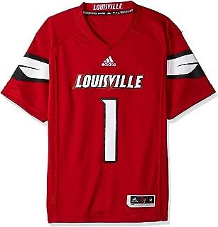 adidas Adult Men NCAA Premier Football Jersey, XX-Large, Black, Louisville Cardinals