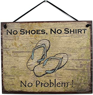 Vintage Style Sign with Sandals Saying,