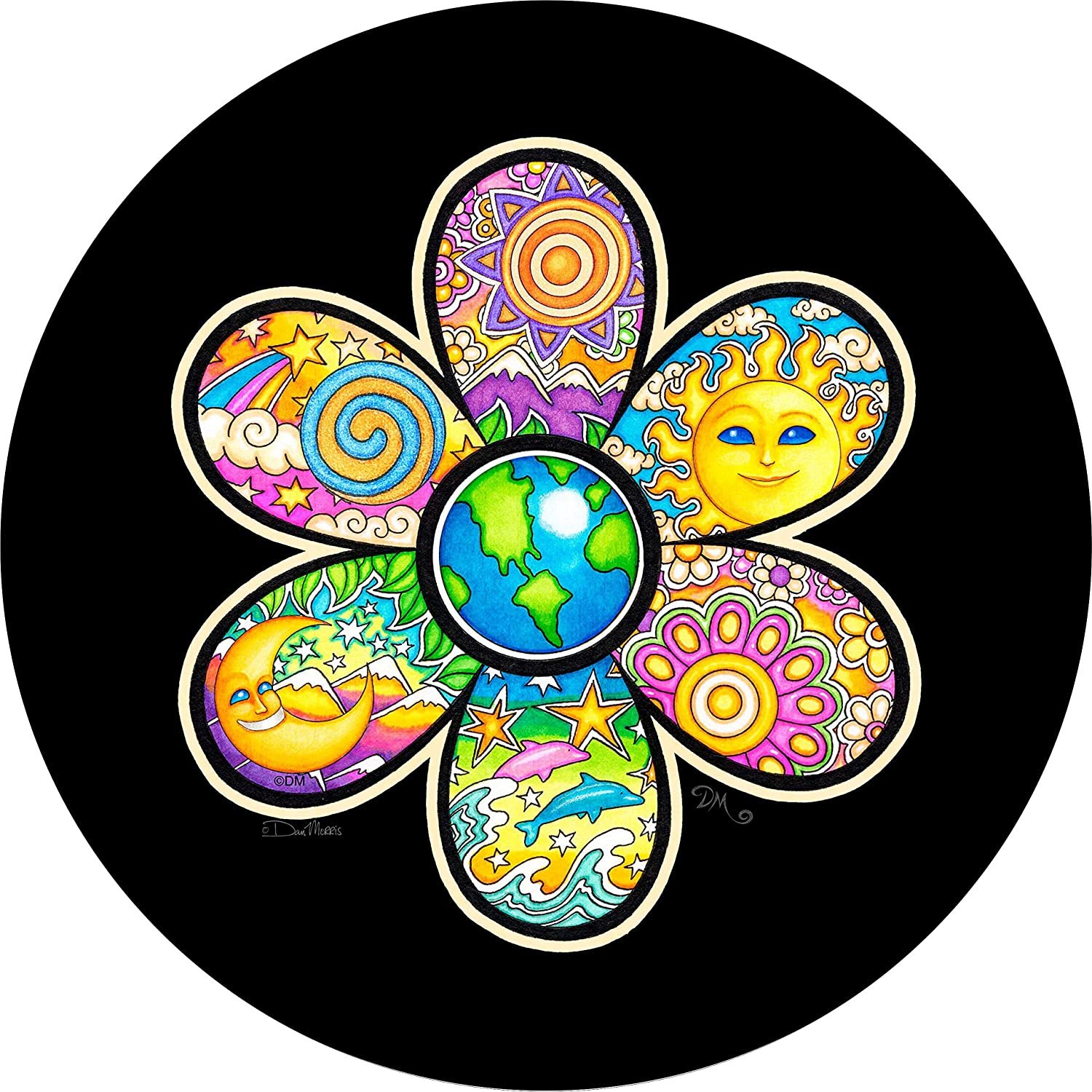 TIRE COVER CENTRAL Earth Flower Ranking TOP3 Cover Dolphin Tire Spare Baltimore Mall Select