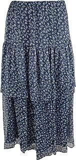 LAUREN RALPH LAUREN Womens Aubrianna Floral Ruffled Midi Skirt