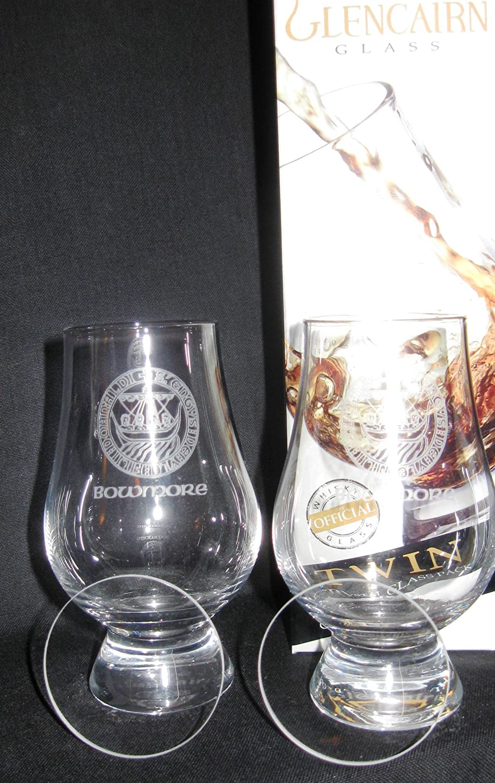 Under blast sales Cheap sale Bowmore Islay Crest Twin Pack Glasses Tasting w Glencairn Whisky