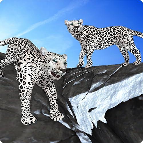 Arctic Leopard Family Snow Forest Sim