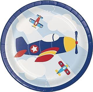 Toy Aeroplane Dessert Plates, 24 ct