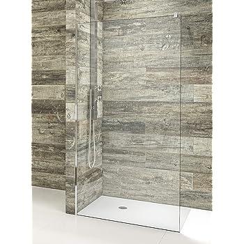 Mampara de ducha de 1 hoja fija - Cristal de Seguridad de 8 mm con ANTICAL INCLUIDO - Best - Modelo AURORA: Amazon.es: Bricolaje y herramientas