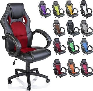 comprar comparacion TRESKO Silla giratoria de oficina Sillón de escritorio Racing, silla Gaming ergonómica, cilindro neumático certificado por...