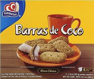 Gamesa Barras de Coco Cookies, 14.3 Ounce