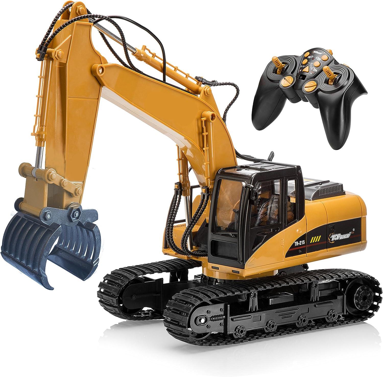 Top Race® ferngesteuerter Bagger als Kettenbagger mit Greifarm Schaufelbagger Baustellenfahrzeuge ferngesteuert Spielzeug für Jungs 215 B01HSE8FHU Bekannt für seine hervorragende Qualität  | Export