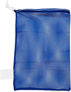 Mesh Sports Equipment Bag - Multipurpose Nylon Drawstring Sack with Lock and ID Tag for Balls, Beach, Laundry