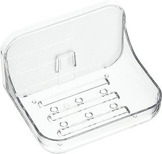 Addis 517872 Invisifix Bathroom Soap Dish holder, Translucent, 9.5 x 12 x 8 cm