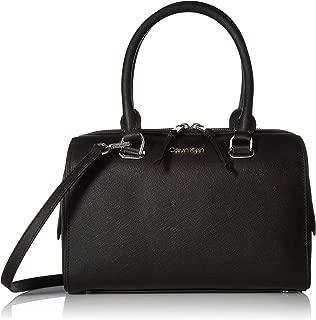Calvin Klein Mercy Saffiano Leather Key Item Bowler Satchel