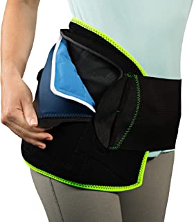 NatraCure (Hot or Cold) Hip and Back Pain Relief Wrap - (Large/X-Large) - (for Relief from Stiff Hips & Back, Inflammation, and Hip Surgery & Arthritis)
