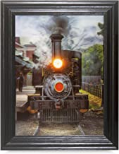TRAINS CHANGING 3D FRAMED Holographic Wall Art-Lenticular Technology Causes The Artwork To Have Depth and Move-HOLOGRAM Images-HOLOGRAPHIC Optical Illusions By THOSE FLIPPING PICTURES