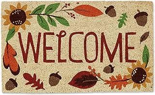 """DII Natural Coir Doormat, Fall & Thanksgiving Seasonal Mat, Welcome Autumn, 18x30"""""""