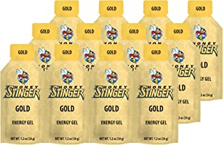 Honey Stinger Energy Gel, Gold, 1.2 Ounce (Pack of 12)