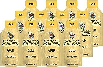 Honey Stinger Energy Gel, Gold, 1.2 Ounce (Pack of 12)
