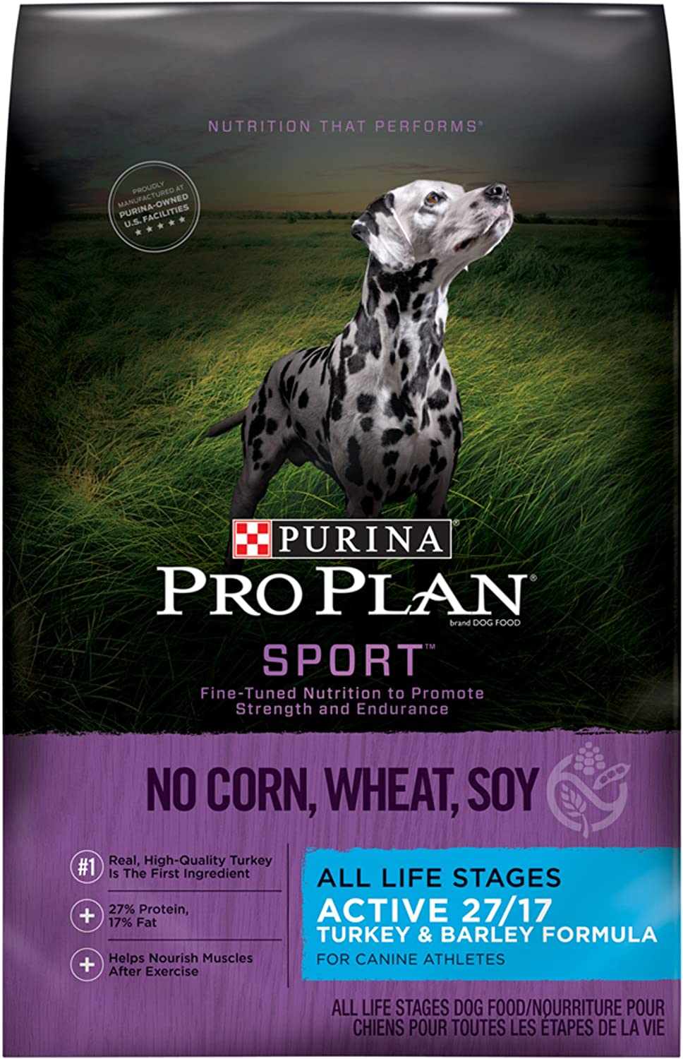 Purina Pro Plan Dry Dog Food, Select, All Life Stages, Natural Turkey and Barley Formula, 33Pound Bag, Pack of 1