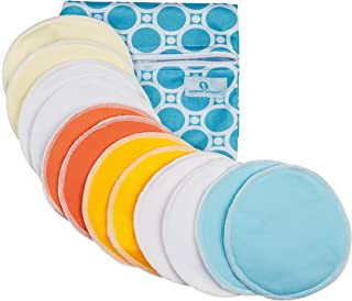 Organic Bamboo Nursing Pads (12 Pack) With Bonus Zippered Storage Pouch by Modern Momma
