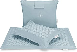 Ajna Acupressure Mat and Pillow Set - Ideal for Back Pain Relief and Neck Pain Relief - Advanced Stress Reliever - Muscle ...