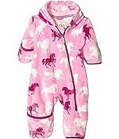 Hatley Kids - Fairy Tale Horses Fuzzy Fleece Bundler (Infant)