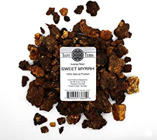 Saint Terra - Sweet Myrrh Incense Resin (Opoponax Gum), 8 Ounces