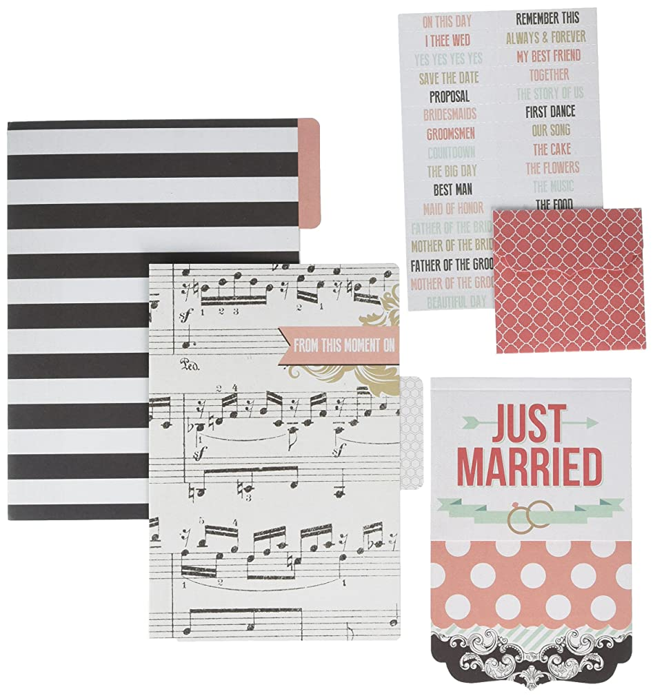 Teresa Collins Save The Date Cardstock File Folders and Cards with Labels