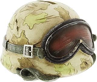 Joy of Giving Army Helmet Coin Bank Figurine Resin Camo