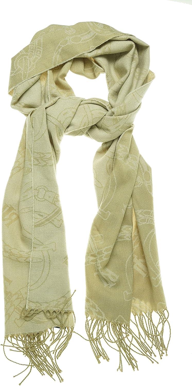 Lauren Ralph Lauren Signature Belting Oversized Pashmina Wrap Scarf Beige